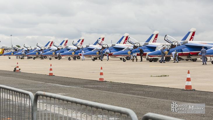 Embarquement des pilotes de la Patrouille de France 2014