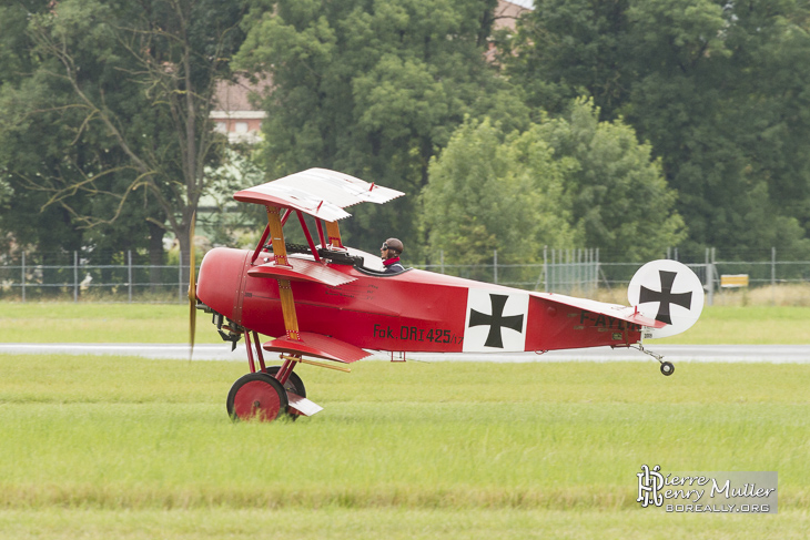 Fokker Triplan au décollage du Bourget
