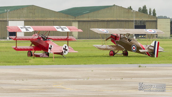Fokker Triplan et RAF SE5 au Bourget