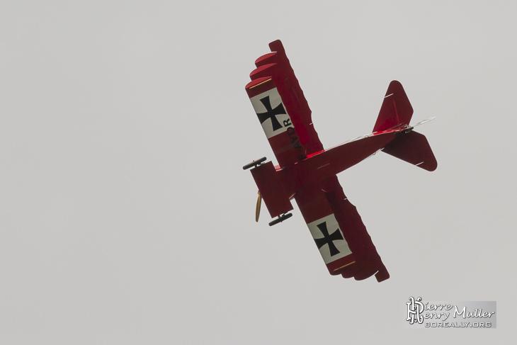Fokker Triplan en vue symétrique