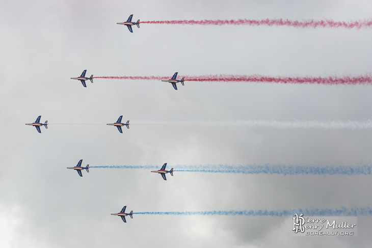 Formation Diamand de la Patrouille de France au Bourget