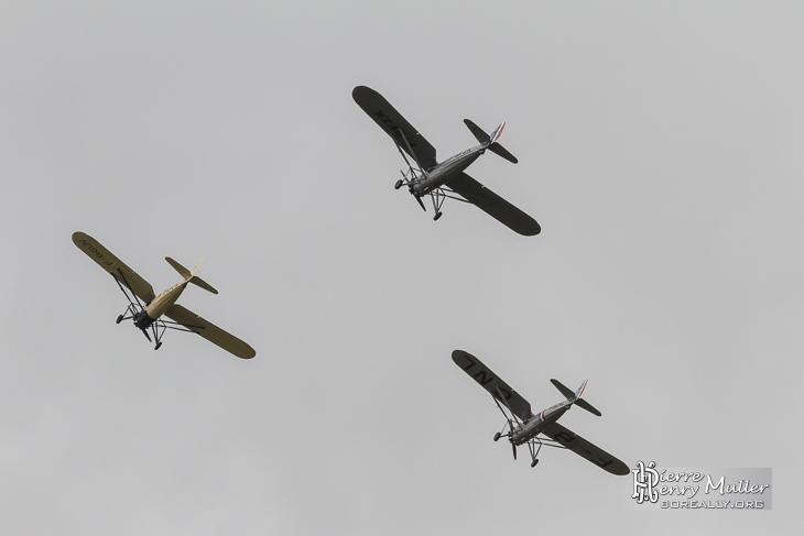 Morane Saulnier en formation au Bourget