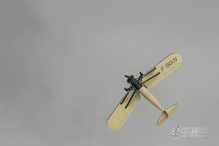 Morane Saulnier MS-317 F-BGUV en virage serré