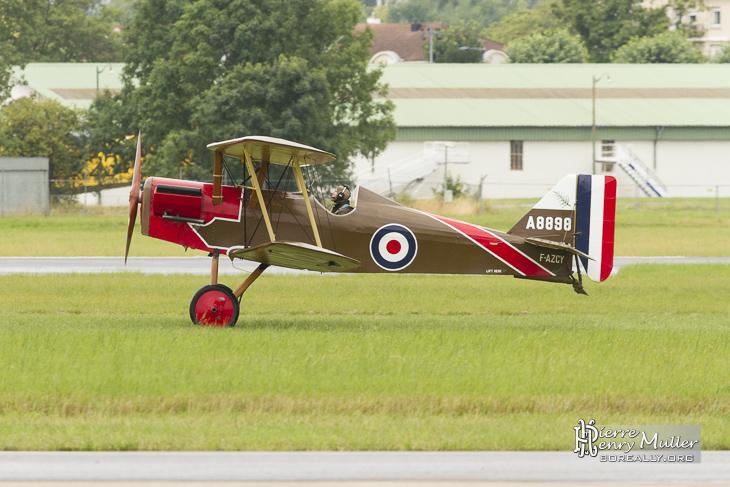 RAF SE5 au décollage au Bourget