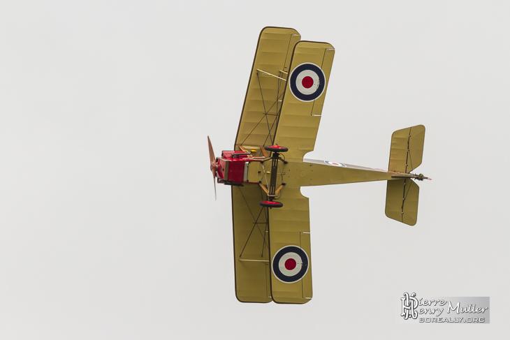 RAF SE5 en virage serré au Bourget