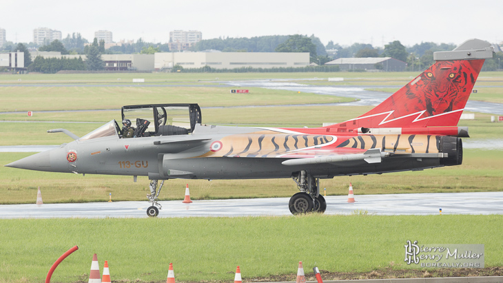 Rafale Solo Display 2014 peinture Tiger Meet