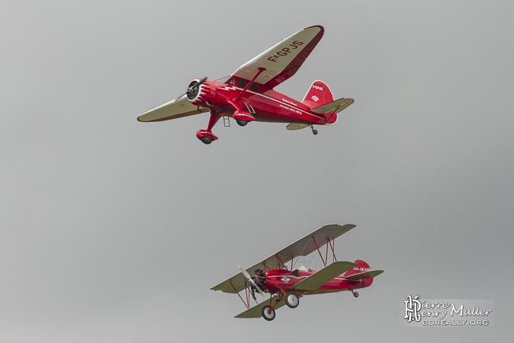 Stinson et Travel Air pour les 100 ans du Bourget