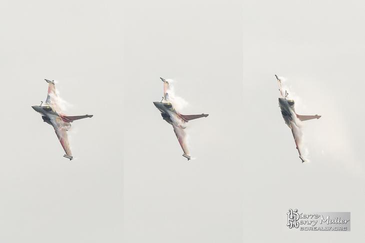 Triptique du Rafale Solo Display 2014 au Bourget