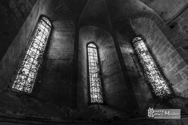 Baies de chevet de l'Abbaye des Moulineaux