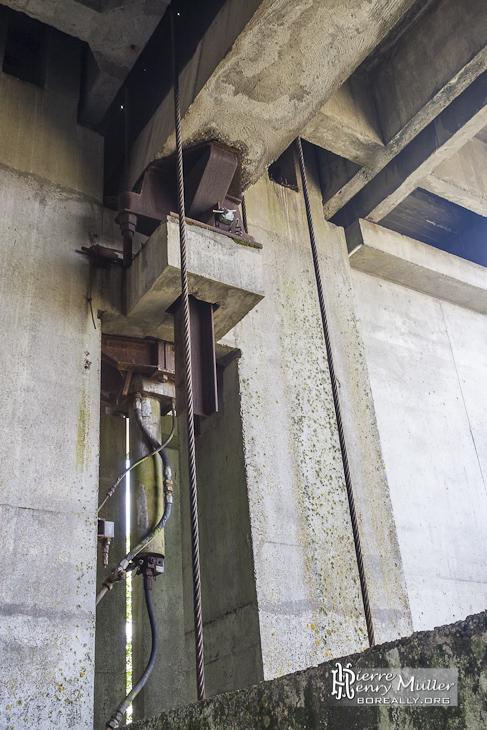 Mécanisme du rail escamotable de la plateforme de Chevilly