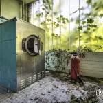 Machine à laver industrielle en HDR