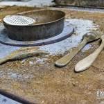 Ustensiles dans les cuisines de l'Avenir Social