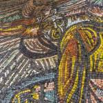 Guerrier en mosaïque sur les fresques de Buzludzha