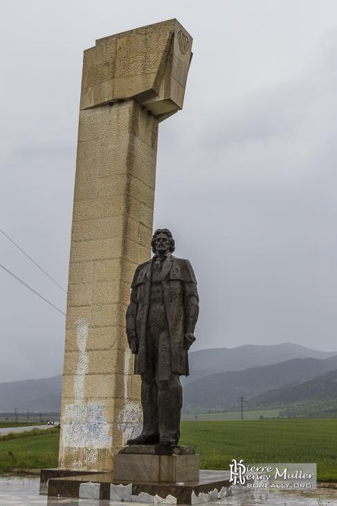 Monument sculpture de Dimitar Blagoev en Bulgarie