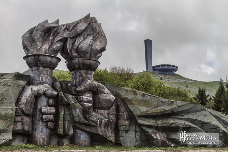 Monuments du mont Buzludzha en Bulgarie