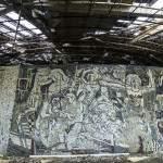 Mosaïque sur la rotonde panoramique de Buzludzha
