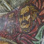 Portraits en mosaïque Todor Givkov, Karl Marx et Lénine