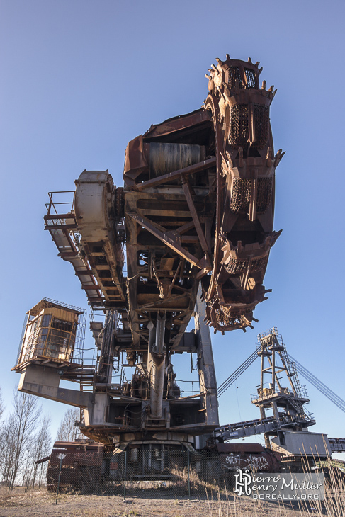 Excavatrice rotative de la mine de charbon de Carmaux
