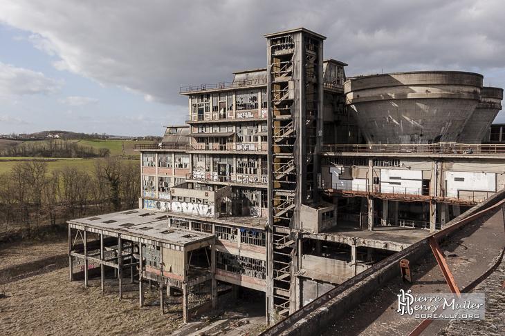 Extérieur du Lavoir à charbon de Blayes-les-Mines