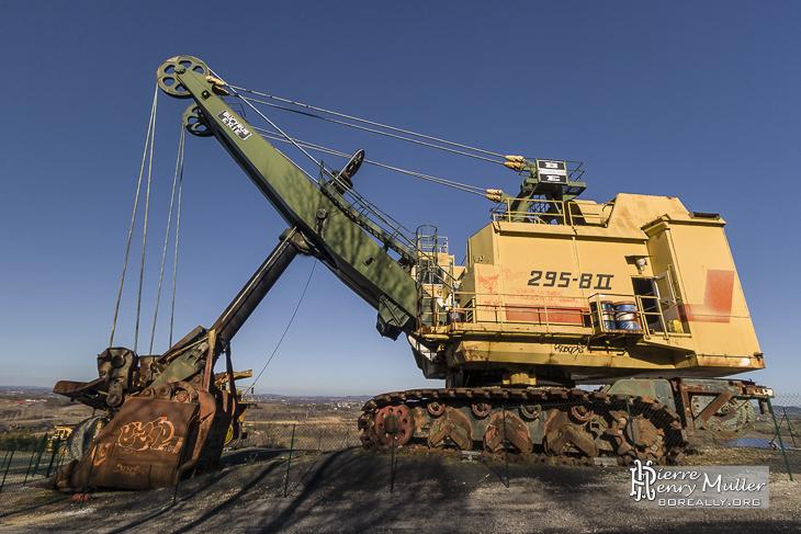 Pelle électrique à câbles de la mine à charbon de Carmaux