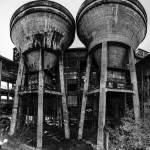 Réservoirs d'eau du lavoir à charbon de Blayes-les-Mines