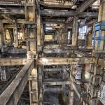 Structure industrielle du lavoir à charbon à nu