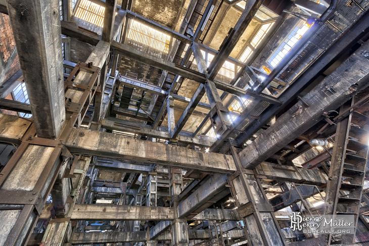 Structure du lavoir à charbon de Blayes-les-Mines