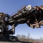 Tête de l'excavatrice de la mine de charbon de Carmaux