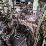 Mécanisme d'une chaudière Alstom à vapeur de la centrale EDF