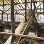 Structure de la verrière au dessus des chaudières de la centrale EDF