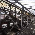 Structure de la verrière du toit de la centrale EDF Saint-Denis