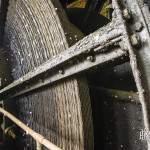 Molette de bobinage des câbles plats du chevalement de Cheratte
