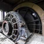 Moteur axial avec bloc frein et bobines de câbles plat en acier de la descenderie