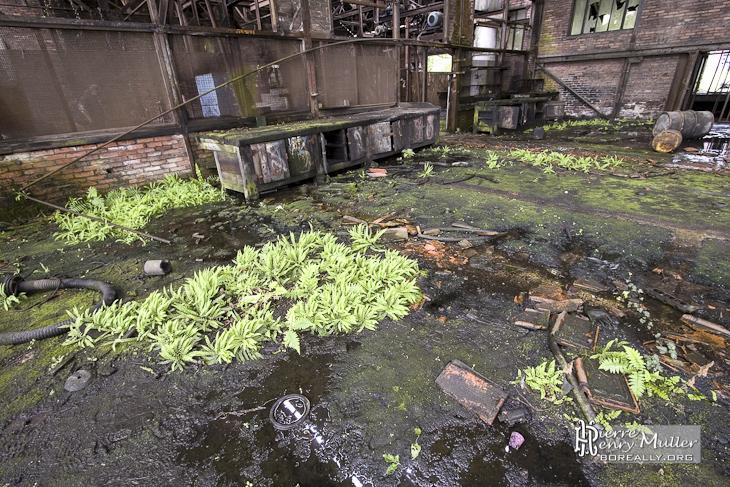 Vue des ateliers de la mine de charbon du Hasard de Cheratte