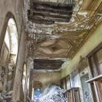 Nouvel effondrement dans le patio reliant les pièces principales au château de Bonnelles
