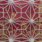 Plafond rouge du salon du château Noisy Miranda