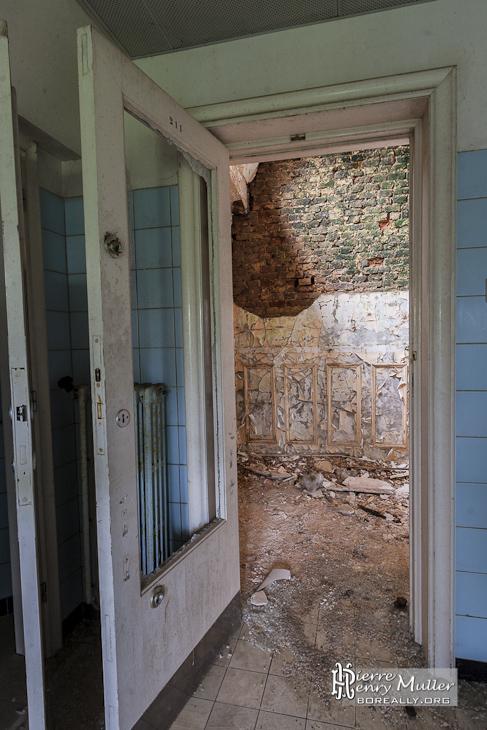 Ravage du champignon des pierre la mérule au château Noisy Miranda