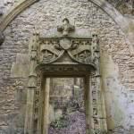Sculpture de l'encadrement d'une porte du château