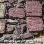 Texture de pierre roses du château