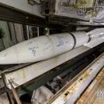 Missile masurca au dessus du barillet babord