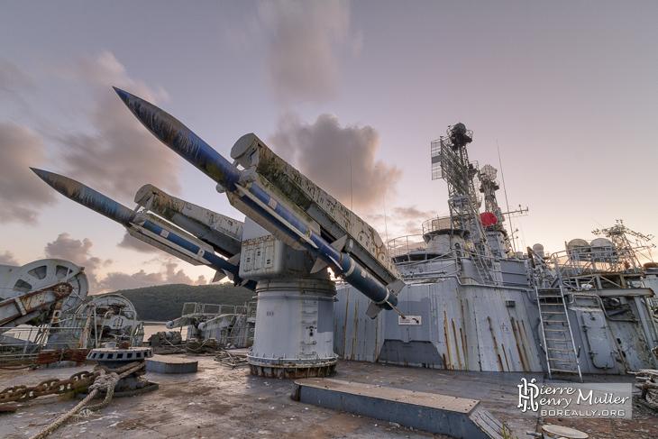 Missiles anti aérien Masurca sur le Colbert