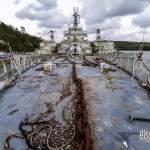 Proue du Croiseur Colbert à Landévennec