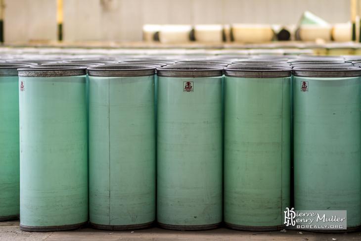 Alignement parfait des conteneurs cylindriques