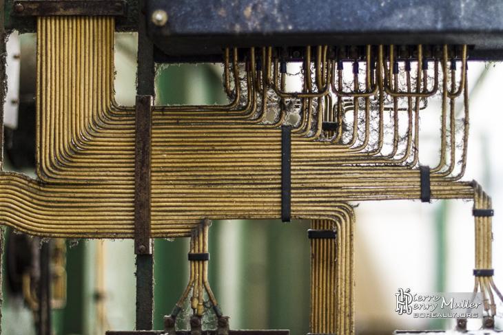 Câblage électrique ordonné dans un panneau de commande de l'usine