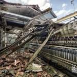 Effondrement dans la salle des machines à filer industrielle de la filature Badin