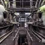 Étage supérieur des fours de l'usine Badin Sartel