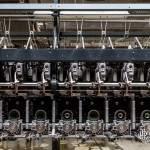 Machine à filer industrielle moderne dans la filature de Barentin
