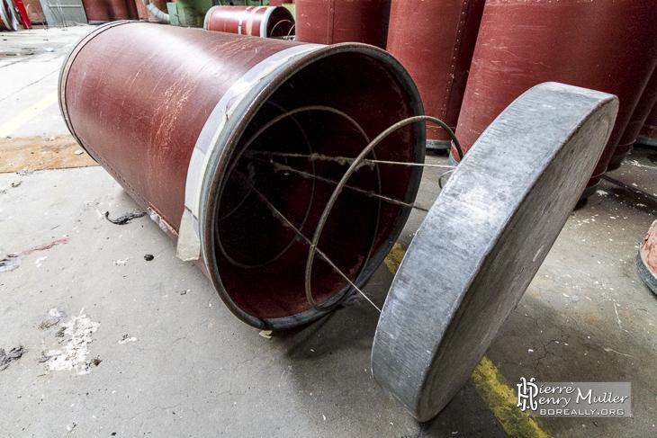 Ressort des conteneurs cylindriques de transport