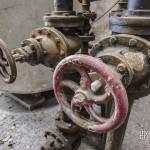 Vannes hydrauliques dans la filature à Barentin