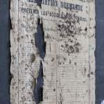 Vieille affiche de prévention des accidents industriels
